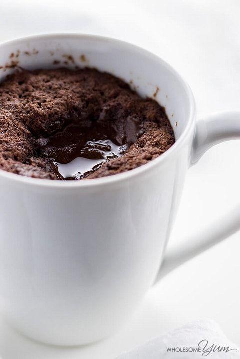 Keto mug cake: Nutella Molten Lava Mug Cake