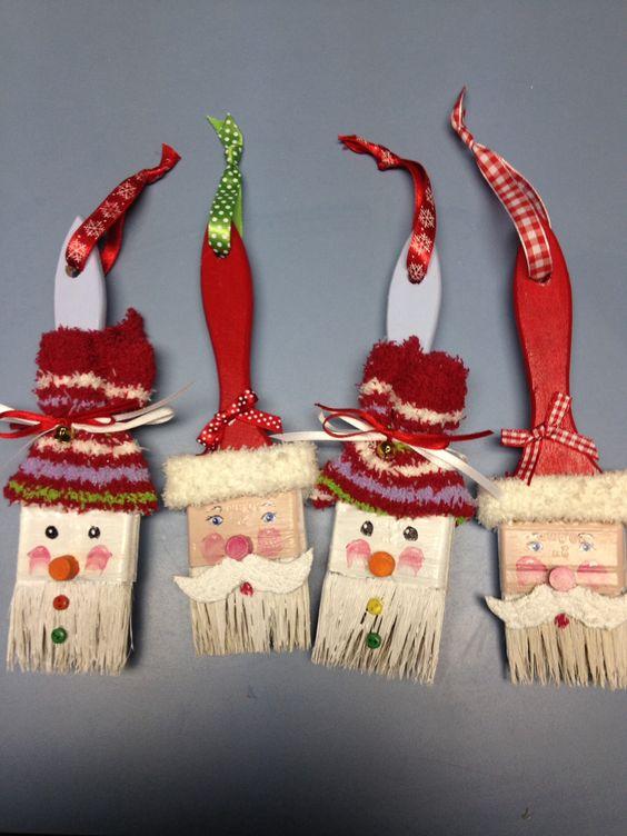 Paintbrush ornaments.