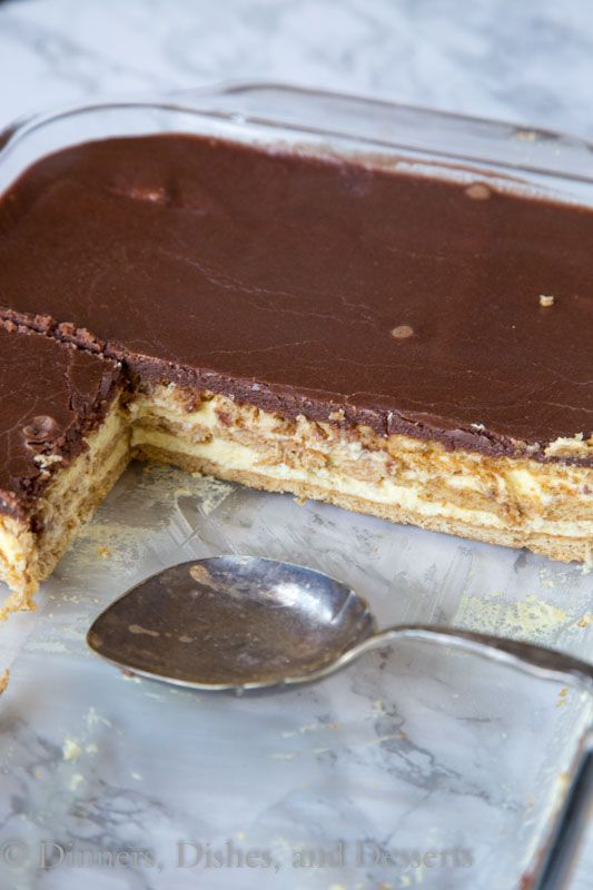 Boston Cream Pie Ice Box Cake - Dinners, Dishes, and Desserts