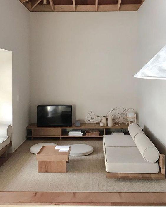 living room of minimalist living