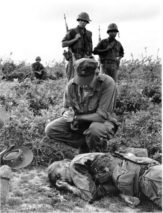 "Photojournalist Dickey Chapelle was wearing combat boots, a bush hat and her signature pearl earrings when she was hit by shrapnel from a Viet Cong land mine near Chu Lai Air Base on Nov. 4, 1965. She was the first female American war correspondent to be killed in action. ""When I die, I want it to be on patrol with the United States Marines,"" she'd once said. Her last words were, reportedly, ""I guess it was bound to happen."""