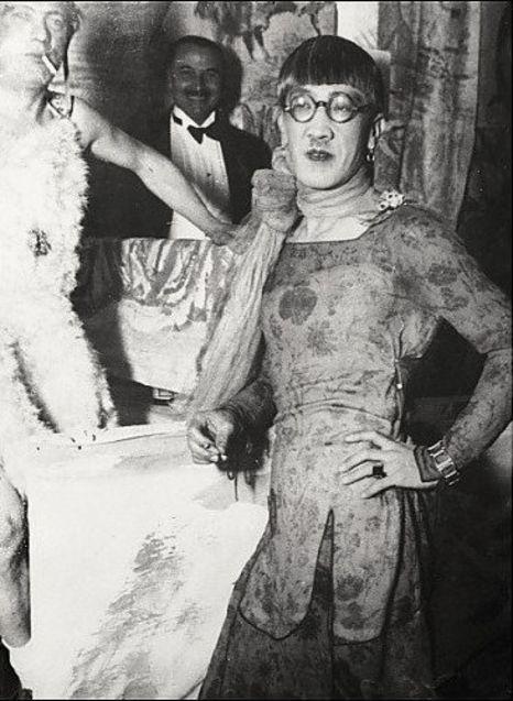 Foujita in drag. Image via Pinterest.
