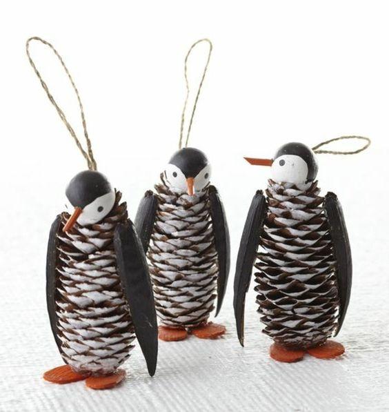 pinguins à faire soi même avec des cônes