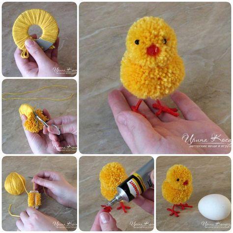 Come fare adorabili pulcini pasquali Pom Pom