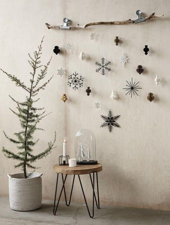 """15 """"Decorazioni murali fai da te"""" per Natale! Ispiratevi"""