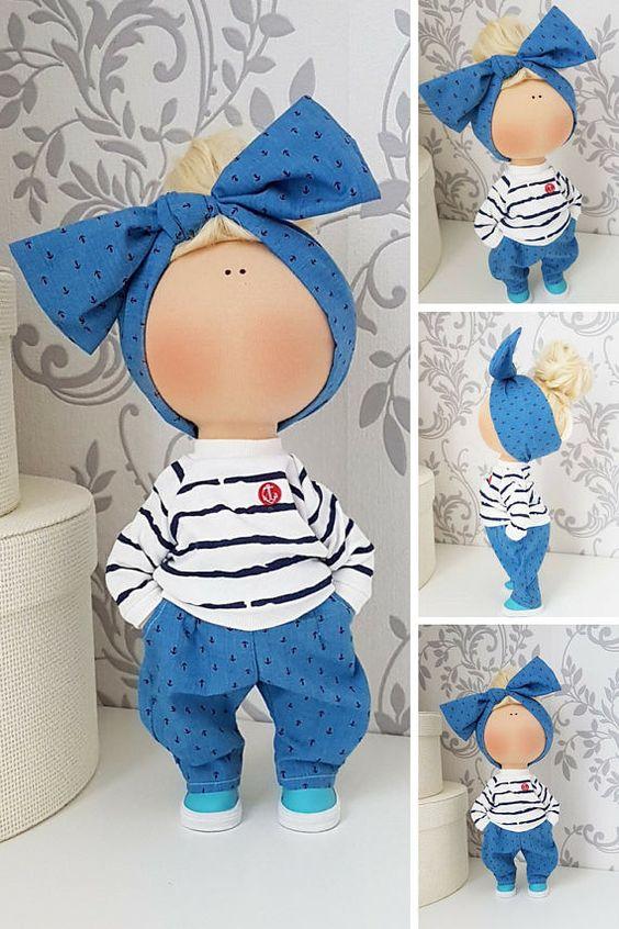 Fabric doll Tilda doll Nursery doll Puppen Interior doll