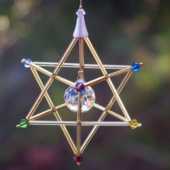 7 Chakras Merkaba Suncatcher / Pendulum In da windyscreations, $ 24,00