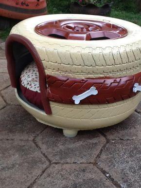 Camas de cachorro de pneu