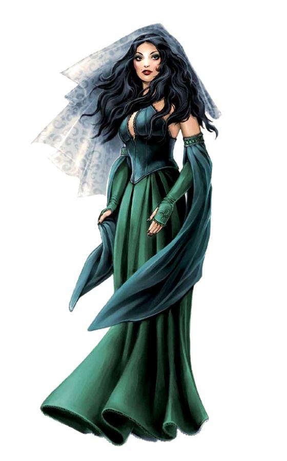 Female Human Sorcerer - Pathfinder PFRPG DND D&D 3 5 5th ed