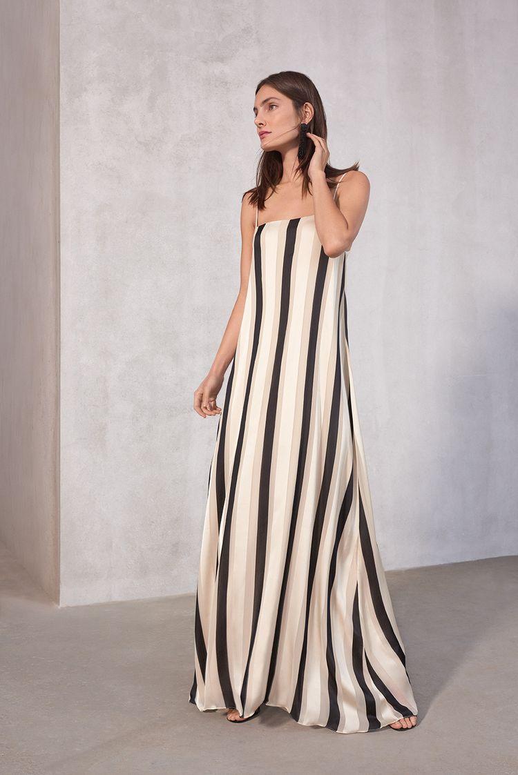 3a999df03 Vestido chiffon stripe-listrado