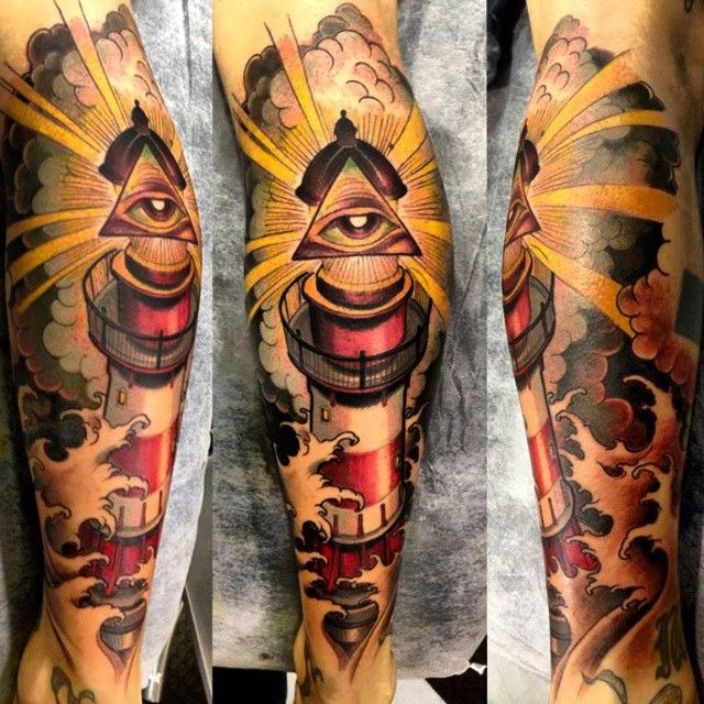c2e15d95afdd5 lighthouse tattoo minus the eye.... I lovethis
