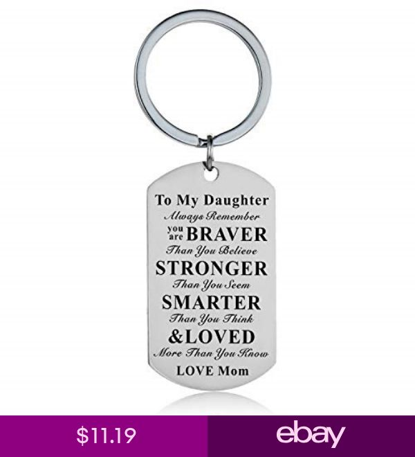 Inspirational Keychain to My Son Daughter Gifts Jewelry fro