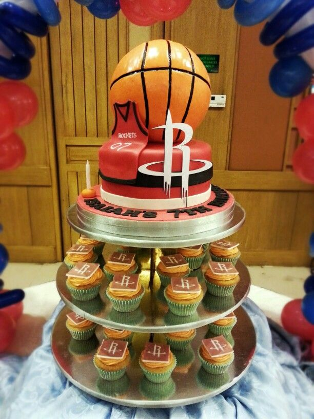 Houston Rockets Cake And Cupcakes