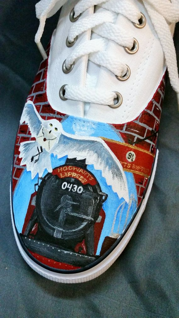 84c3b084fbb8 Custom Painted Harry Potter Inspired Shoes