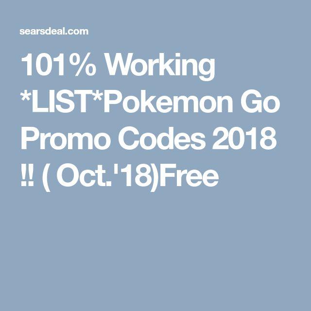101%) *Pokemon Go Promo Codes*