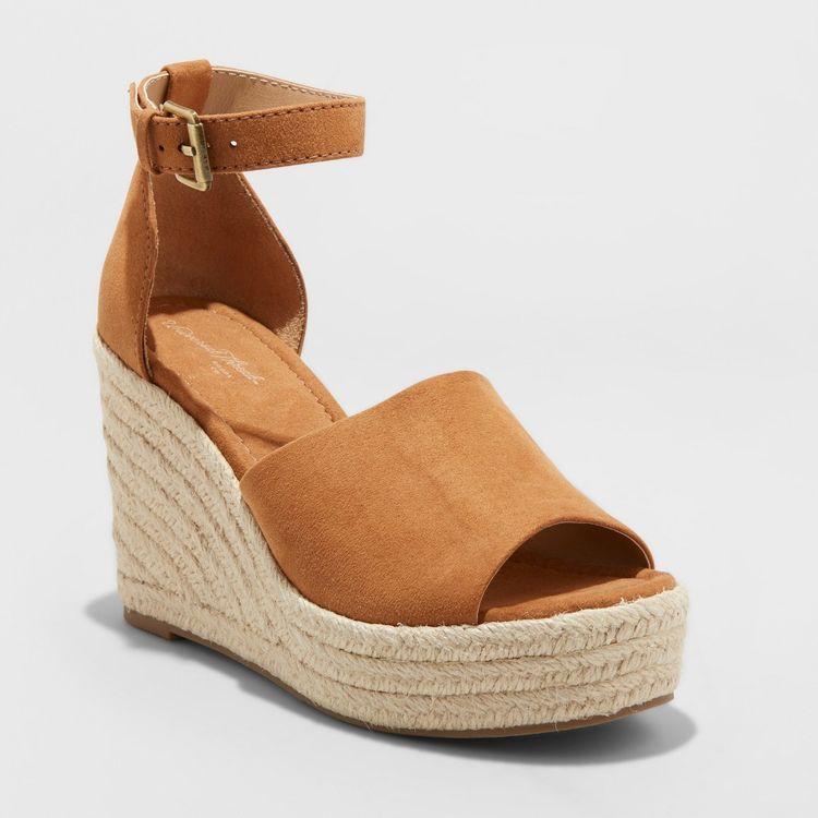 eb758a54f Women s Emery Espadrille Sandals - Universal Thread Chestnut (Brown) 9
