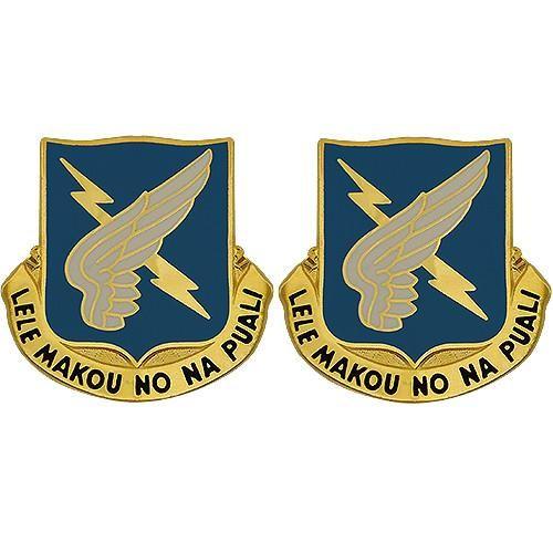 25th Aviation Regiment Unit Crest (Lele Makou No Na Puali)