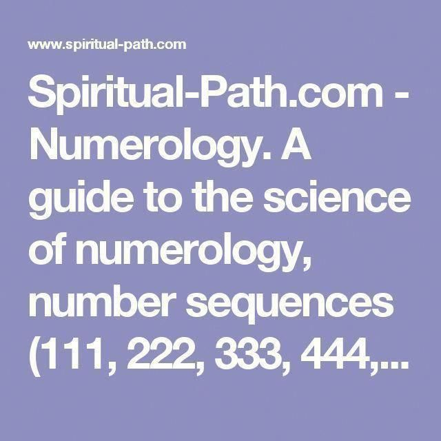 Spiritual-Path com - Numerology  A guide to the science of