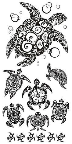 8567c1103 Awesome Turtles Tattoo Design
