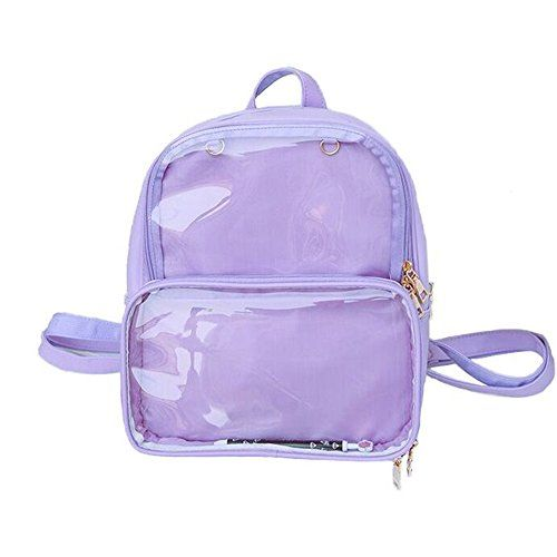 c30c5db3e881 New KKEY Ita Bag Leather Backpack Transparent Itabags Anime Bag Girls  School Bag (purple) online shopping