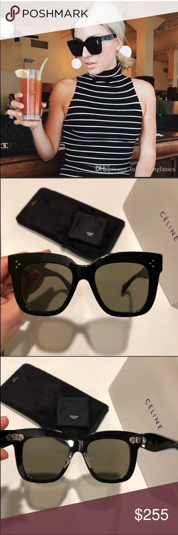 802a24a07c8b Celine Kim sunglasses 😎 Celine Kim black grey sunglasses New condition.  100% authentic guaranteed