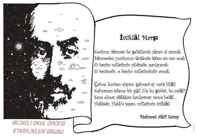 Istiklal Marşının Kabulü Etkinlik örnekleri Mehmet Akif E