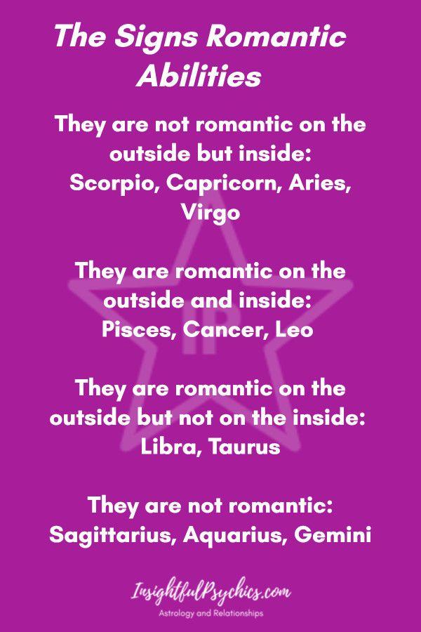 The Signs Romantic Abilities #Aries #Taurus #Gemini #Cancer