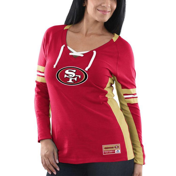 11702d93fee San Francisco 49ers Majestic Women s Winning Style Long Sleeve T-Shirt -  Scarlet