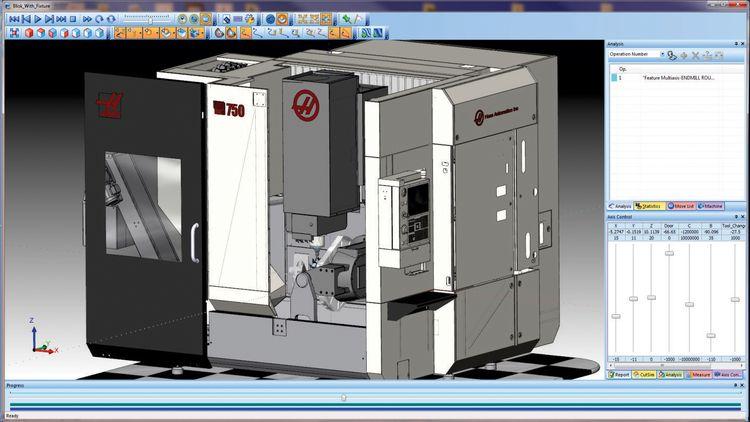 BobCAD-CAM CNC Software: MultiAxis Simulation on a @Haas Au
