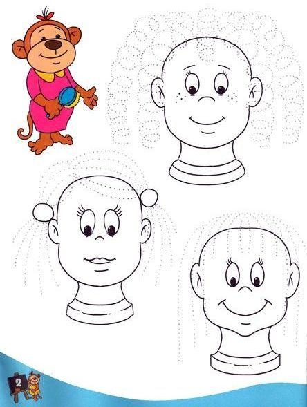 Eğlenceli çizgi çalışma Sayfaları Okul öncesi Etkinlik K