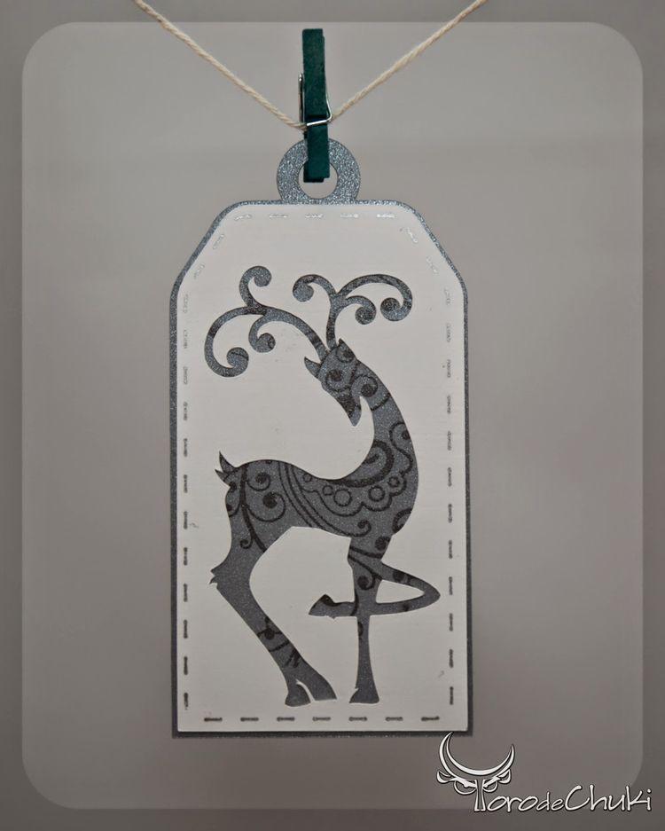 FREE SVG Awesome SVGs: Day 9 - Elegant Flourish Reindeer G