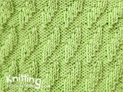 Knitting Stitch Patterns - List of stitch patterns to produ